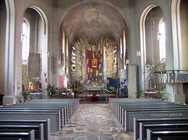 Bild vergrößern: Kreuzbergkirche Innenansicht