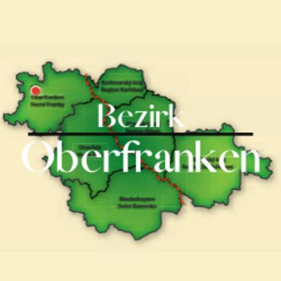 """Button zum Klicken """"Bezirk Oberfranken"""""""