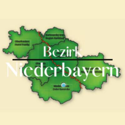 """Button zum Klicken """"Bezirk Niederbayern"""""""