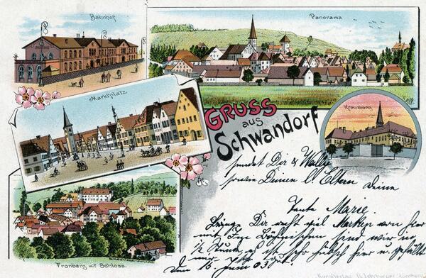 Gruß aus Schwandorf von Wally nach Heidenheim a. d. Brenz 1903. ©Stadtarchiv Schwandorf